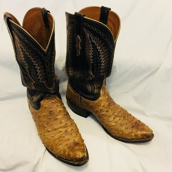 acef904c236 Lucchese Full Quill Ostrich Boots - Men Sz 10.5